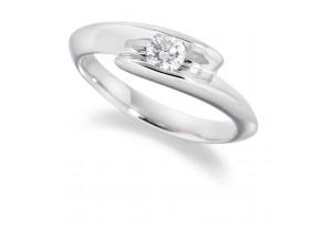 LADIES ROUND BRILLIANT CUT DIAMOND RING 0.20CT  REF:GP2102