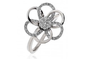 LADIES MULTI-STONE DIAMOND RING     0.35CT   REF:GP2983