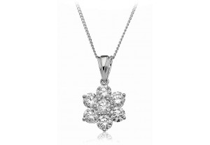 LADIES DIAMOND PENDANT AND CHAIN FROM 0.50CT TO 1.50CT REF:GP794