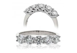 LADIES 5 STONE BRILLIANT CUT DIAMOND RING FROM 0.30CT TO 2.00CT REF:GP184