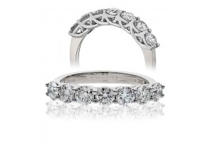LADIES  7 STONE BRILLIANT CUT DIAMOND RING FROM 0.33CT TO 2.00CT REF:GP212