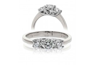 LADIES 3 STONE BRILLIANT CUT DIAMOND RING FROM 0.50CT TO 3.00CT REF:GP166
