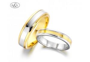 LADIES 2-TONE WEDDING RING  REF:GP2156