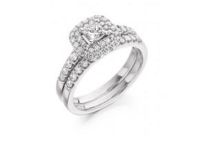 LADIES 18CT WHITE GOLD DIAMOND RING 0.75CT REF:GP3414
