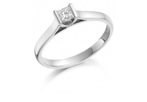 LADIES 18CT WHITE GOLD DIAMOND RING 0.20CT REF:GP3422