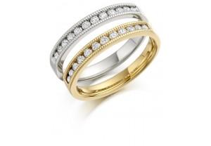 LADIES 18CT Y/G HALF ETERNITY DIAMOND  RING 0.20CT REF:GP3415