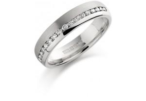 LADIES PALLADIUM DIAMOND WEDDING RING 0.25CT REF:GP3418