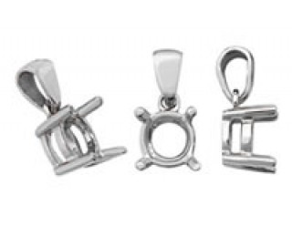 Platinum Earrings and Pendant Mounts