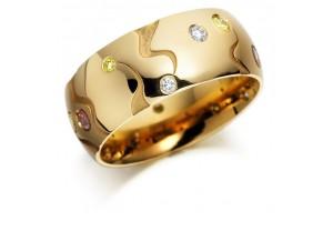 LADIES FANCY COLOUR DIAMOND RING REF:GP2948