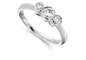 LADIES 18CT WHITE GOLD DIAMOND RING 0.50CT REF:GP3421