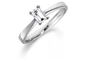 LADIES EMERALD CUT DIAMOND RING 0.40CT REF:GP2104