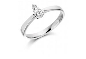 LADIES FANCY CUT PEAR SHAPED DIAMOND RING 0.33CT  REF:GP2105