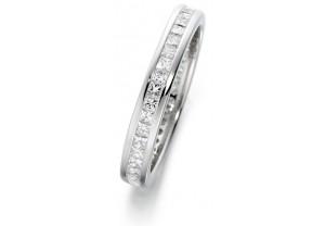 LADIES FULL ETERNITY PRINCESS CUT DIAMOND RING 1.00CT REF:GP2730
