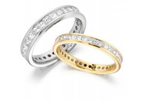 LADIES FULL ETERNITY PRINCESS CUT DIAMOND RING 2.00CT REF:GP2731