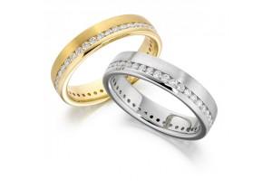 LADIES FULL ETERNITY ROUND BRILLIANT CUT DIAMOND RING 0.50CT REF:GP2732