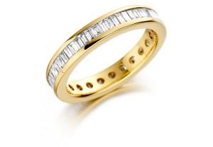 LADIES FULL ETERNITY  BAGUETTE DIAMOND RING 1.00CT REF:GP2734