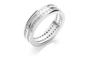 LADIES FULL ETERNITY PRINCESS CUT DIAMOND RING 1.50CT REF:GP2736