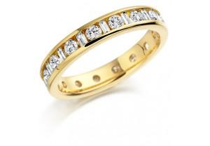 LADIES FULL ETERNITY R/ BRILLIANT AND BAGUETTE DIAMOND RING 1.00CT REF:GP2737