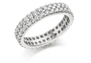 LADIES FULL ETERNITY ROUND BRILLIANT CUT  DIAMOND RING 1.50CT REF:GP2738