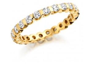 LADIES FULL ETERNITY ROUND BRILLIANT CUT DIAMOND  RING 1.00CT REF:GP2739