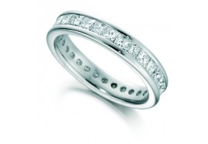 LADIES FULL ETERNITY PRINCESS CUT DIAMOND RING 1.50CT REF:GP2740