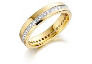 LADIES FULL ETERNITY PRINCESS CUT DIAMOND RING 1.00CT REF:GP2741
