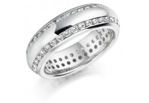 LADIES FULL ETERNITY ROUND BRILLIANT CUT DIAMOND RING 1.00CT REF:GP2745