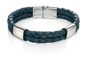 Navy leather bracelet REF:GP4247
