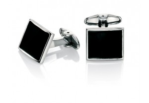 Black enamel cufflinks REF:GP4239