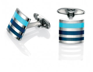 Striped enamel cufflinks REF:GP4248