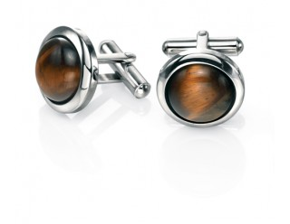 Stainless Steel Tigerseye cufflinks REF:GP4249