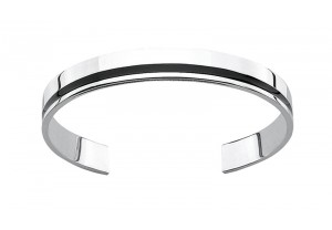FLAT TORQUE STYLE BLACK RESIN BANGLE  REF:GP2484