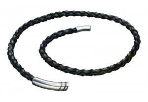 LEATHER CORD AND BM MAGNECTIC CLASP NECKLACE  REF:GP2473