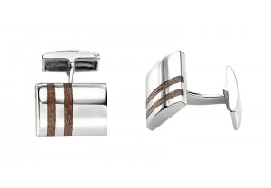 CUFFLINKS WITH WOOD INLAY REF:GP2454