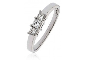 LADIES 0.50CT PRINCESS CUT DIAMOND RING  REF:GP152