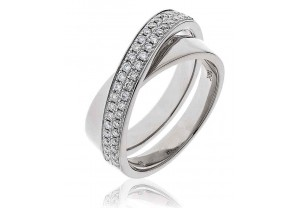 LADIES MULTI-STONE BRILLIANT CUT DIAMOND RING 0.30CT GP1127