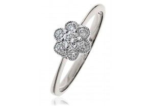 LADIES MULTI-STONE ROUND BRILLIANT CUT  DIAMOND RING 0.30CT  GP995