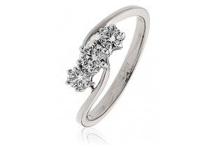 LADIES MULTI- STONE  ROUND BRILLIANT CUT DIAMOND RING 0.50CT REF:GP976