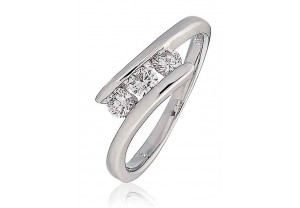 LADIES ROUND BRILLIANT CUT DIAMOND RING 0.33CT REF:GP160