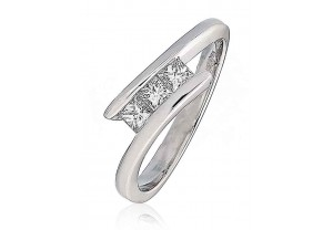 LADIES SQUARE PRINCESS CUT DIAMOND RING 0.33CT REF:GP161
