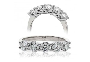 LADIES 0.75CT ROUND BRILLIANT CUT PLATINUM DIAMOND RING REF:GP616