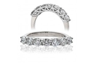 LADIES 0.50CT ROUND BRILLIANT CUT PLATINUM  DIAMOND RING REF:GP621