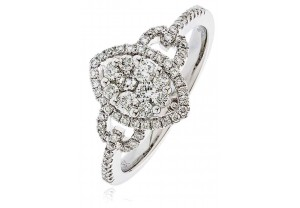 LADIES  ROUND BRILLIANT CUT DIAMOND RING 0.55CT REF:GP1198