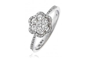 LADIES  ROUND BRILLIANT CUT DIAMOND RING 0.55CT REF:GP1189