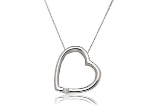 LADIES DIAMOND PENDANT AND CHAIN 0.05CT REF:GP786