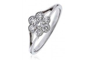 LADIES ROUND BRILLIANT CUT  DIAMOND RING 0.50CT REF:GP988
