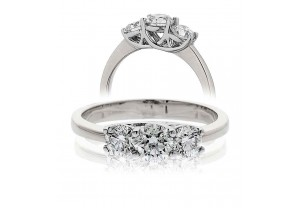 LADIES 3 STONE BRILLIANT CUT DIAMOND RING 1.50CT REF:GP162