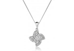 LADIES DIAMOND PENDANT AND CHAIN 0.40CT REF:GP522