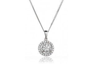 LADIES DIAMOND PENDANT AND CHAIN 0.40CT REF:GP389