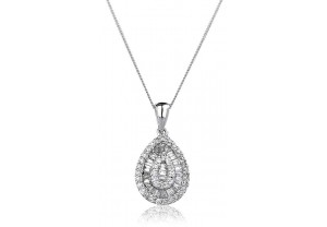 LADIES DIAMOND PENDANT AND CHAIN 0.40CT  REF:GP484